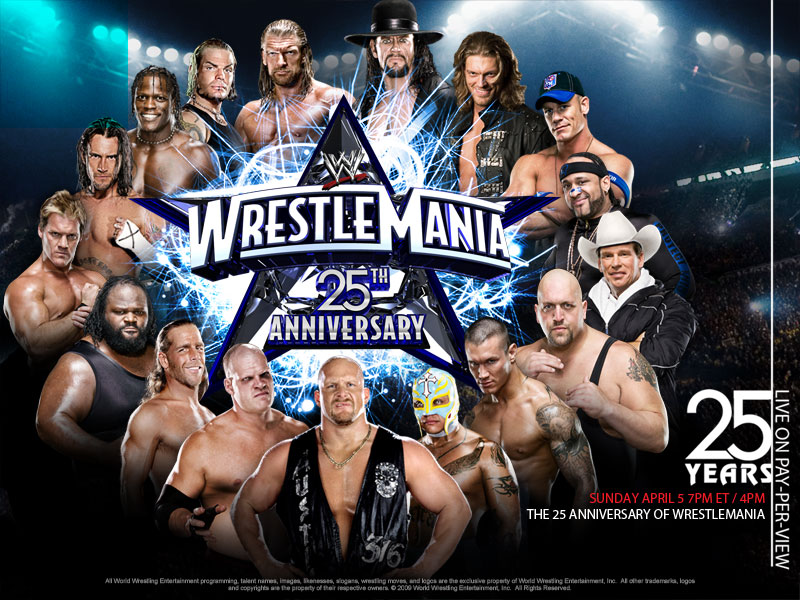 Image result for WrestleMania XXV Poster