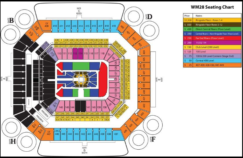 Wwe Wrestlemania 28 Seating Chart And Ticket Prices Wrestlezone