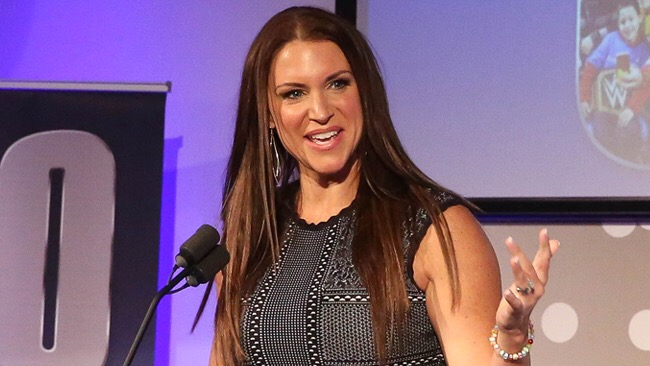 Stephanie Mcmahon Plugs Her New Wwe Network Collection Johnny Gargano Bats For Connors Cure