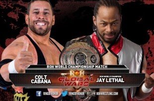 Wrestlezone image Final Card For Tonight's Ring Of Honor Global Wars PPV; Lethal Vs Cabana, The Young Bucks, Jushin Liger In-Action, WZ Live Coverage and More