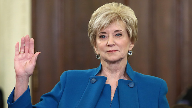 Linda McMahon is leaving Small Business Administration