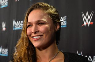 Wrestlezone image Watch Ronda Rousey's Ringside Selfie Video At Extreme Rules While Bayley Views From Afar