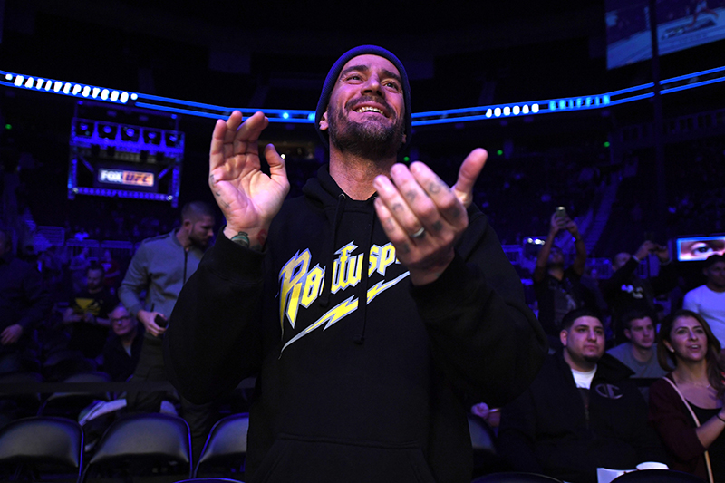 CM Punk Has An Incident With A Fan While Commentating MMA Event
